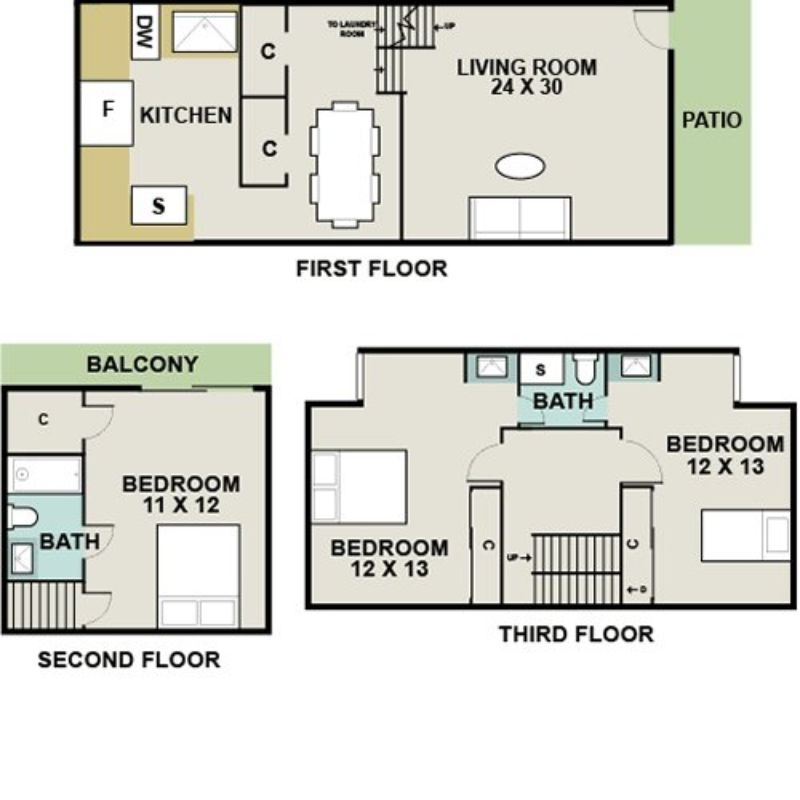 Colony At Kenilworth Apartments, Towson. Apartment For Rent